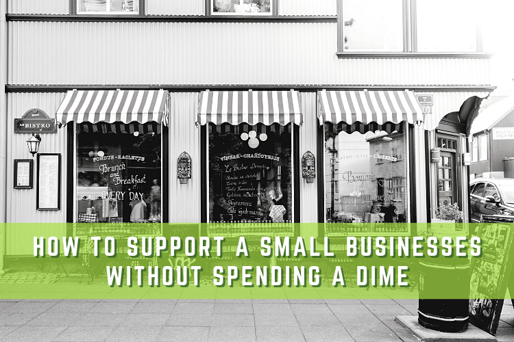 Easy Ways to Support Small Businesses Graphic